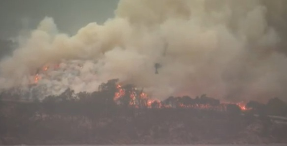 bush fire in Australia Fire in Australia